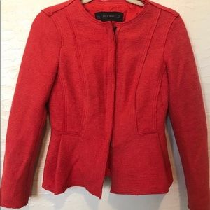 Zara basics dark orange jacket size XL